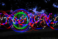 Madness (JRT ) Tags: blue trees wallpaper sky lightpainting night fun nikon madness hour spinning leds orbs mobilephones nutters nuttyboys d300s nightnutters johnwarwood