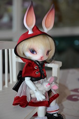 Phoebe (MissLilieDolly) Tags: red white rabbit bunny rouge doll skin little collection riding phoebe hood bjd dolly luts delf miss limited lilie lapin zuzu toya chaperon fullset missliliedolly