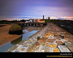 St Andrews Pier (Charlotte Brett Photography) Tags: sunset sea coast scotland pier cathedral harbour fife standrews