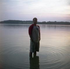 (Josh Sinn) Tags: color 120 6x6 film andy water standing mediumformat river fuji 100 reala stmarys yashicamat124g smcm stmaryscounty stmaryscollegeofmaryland joshsinn joshuasinn