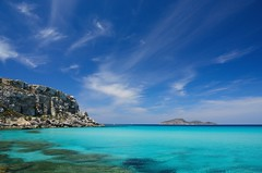 Cala Rossa, Favignana - Isole Egadi - Sicilia - Sicily (Giuseppe Finocchiaro) Tags: blue sea sky nikon mediterranean mediterraneo mare blu cielo sicily sicilia isola favignana egadi levanzo isole calarossa