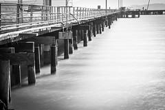 Point Molate Pier (Ron Rothbart) Tags: longexposure blackandwhite bw monochrome pier july29 pointmolate neutraldensityfilter 10stopfilter