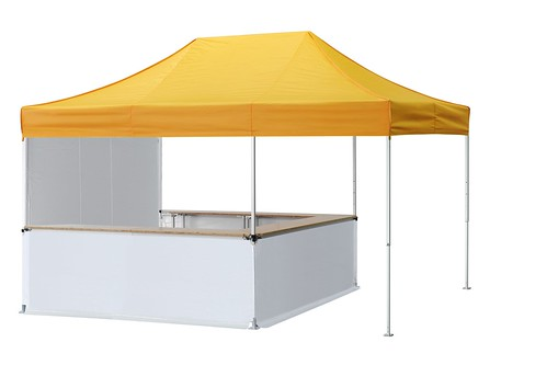 Tenda gazebo 4.5x3 Qualytent con 6 gambe e banco tenda interno