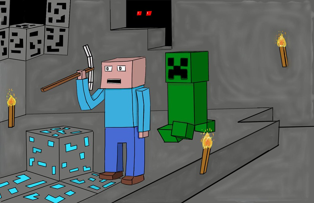 The world 39 s most recently posted photos of creeper and - Minecraft creeper and steve ...