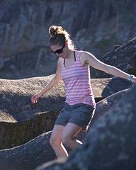 Kassia on the rocks (Alejandro Erickson) Tags: summer woman canada nationalpark rocks bc britishcolumbia reserve gulfislands saturna narvaez