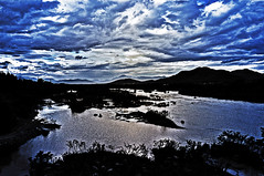 late afternoon (e.nhan) Tags: blue sunset sky nature water river landscape afternoon vietnam late enhan