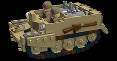 WASP Universal Carrier (Florida Shoooter) Tags: wasp lego britain ww2 flamethrower ldd universalcarrier
