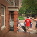 Student gets a little assistance from his mom as he moves into Owen residence hall.MOVEIN.2012.1286
