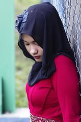redputry3 (ilhamsyah metharani) Tags: red fashion indonesia model pentax hijab 17 50 smc fa k5 merah bontang