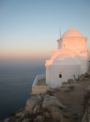 Church with view (draftguide) Tags: sea summer sky church sunrise greece kalamos anafi kalamiotissa