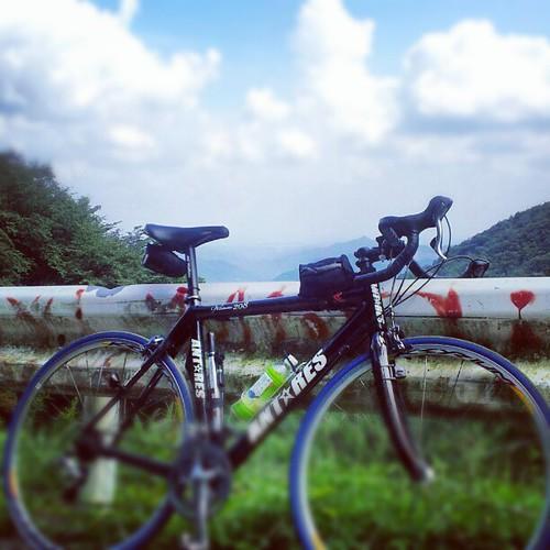 正丸峠なう。 #mountain #bicycle #sky #イマソラ #自転車