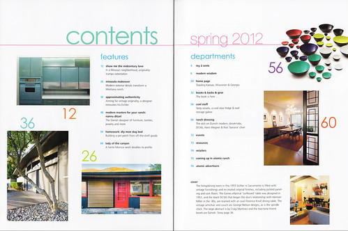 Atomic Ranch Issue 33: Spring 2012 Contents