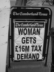 Millionairless :-( (ambo333) Tags: uk england money headlines cumbria tax carlisle newsheadlines newsstar 16million taxdemand
