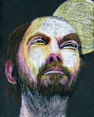 Sren (Gila Mosaics n'stuff) Tags: portrait male art artist prismacolor onblack portraitparty jkpp jkpp2012