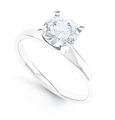 pure white gold engagement ring