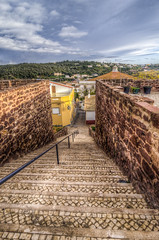 Rua de Silves (_Rjc9666_) Tags: nikond5100 tokina 1224dxii silves algarve hdr street cityscape city urbanexploration stair steps red 422 ©ruijorge9666 16
