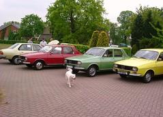 Renault 18 GTS 1979 & 12 TL 11-1-1972 84-61-TF & 12 TS 26-8-1975 66-GG-83 & 12 TS 9-9-1975 46-GH-99 (Fuego 81) Tags: 1975 12 1972 ts r12 r18 cwodlp 8461tf renaultclassicmeetingommennl1552004 66gg83 46gh99