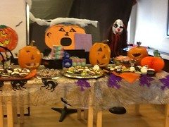 halloween table (Points West Living) Tags: halloween fun good evil enjoy lloydminster spidermen