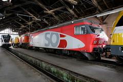 SRT Re 456 142-9 SOB, Remise Winterthur (TaurusES64U4) Tags: sob srt re456