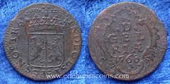 Netherlands Gelderland 1 duit 1768 (Numismatic Coins & History) Tags: netherlands coin europa europe copper holanda cobre moneda gelderland mnze pasesbajos duit