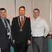 Showtel Ciaran Ghee and Adrian Kelly, Hugh Jordan and Stephen McNally, IHF President