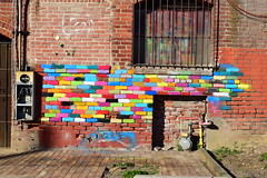 Enhanced Brick (jjldickinson) Tags: nikond3300 100d3300 nikon1855mmf3556gvriiafsdxnikkor promaster52mmdigitalhdprotectionfilter hiking walking brick downtown longbeach
