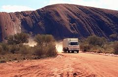 Australia 1981. Ayres Rock.(Now Uluru) (pszz) Tags: australia ayres rock ford rubbish truck agfacolor slide film 35mm