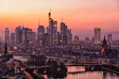 When Frankfurt is going to sleep... (Ansgar Hillebrand) Tags: sunset landscape evening lan