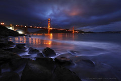 Stormy Sunday (Andrew Louie Photography) Tags: bridge blue light storm love coffee colors rain canon reflections point photography golden bay gate long exposure fort sfo marin low sunday jazz stormy hour area headlands drama foreground jazza