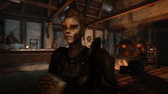 Drunken Huntsman Mercenary (leafonthewind.) Tags: screenshot fantasy rpg tavern bethesda orc modded enb skyrim 1440p elfx