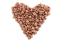 Love the smell of coffee (Jochem.Herremans) Tags: morning food brown white plant love coffee horizontal closeup breakfast dark studio photography idea photo cafe beans energy shot heart natural bright image symbol drink many vibrant background grain seed vivid ground nobody surface bean roast arabic full gourmet delicious pile backdrop concept agriculture shape caffeine sort isolated roasted aroma