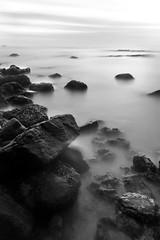 152 (peters_nikon) Tags: light sea white black blur beach water rock contrast photoshop sunrise newcastle nikon rocks metro tyne filter nd upon cullercoats longexpo