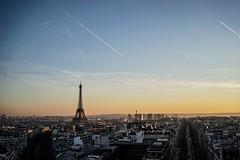 Vue arc de triomphe (frankytoko) Tags: sunset paris toureiffel arcdetriomphe couchdesoleil
