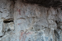 Grassi lake pictographs very similar to the ones over at grotto canyon the other side of this valley. (davebloggs007) Tags: lake this other very side over canyon valley similar grotto ones pictographs grassi