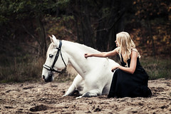 trust (soulsinpictures) Tags: horse woman nature girl dark 85mm editorial expressive equestrian equine
