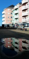 8 March 2015 - Flats Reflected (penny_chicken) Tags: wales reflections square flat y cymru aberystwyth flats reflected ceredigion brenin llys