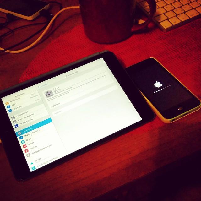 Яблочный вечер. #ipad #iphone #apple #обновление #вечер #Лобня