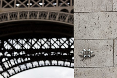 Space Invader, Paris (IFM Photographic) Tags: streetart paris france ex canon graffiti eiffeltower spaceinvader sigma os latoureiffel 75007 7th f28 dg 70200mm 7me gustaveeiffel 7e 600d hsm sigma70200mm ladamedefer 7tharrondisment arondisment sigma70200mmf28exdgoshsm img6735a