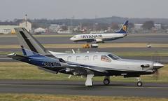 N891MA TBM 900,Glasgow Prestwick 17/3/15 (BS Images.) Tags: scotland us airport unitedstates aircraft aviation delivery prestwick pik ayrshire gpa prestwickairport southayrshire egpk glasgowprestwick tbm900 muncieaviation n891ma