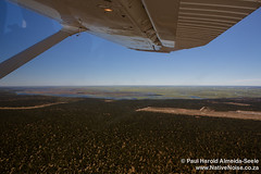 Flight Over Chobe National Park, Into The Okavango Delta, Botswana