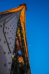 Eiffel tower with moon