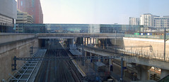 Stratford in a box (beqi) Tags: panorama london concrete stonework rail railway railwaystation stratford photoshoppery 2015 highspeed1