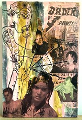 billboard series 4 (jenniferbeinhacker.com) Tags: pink party people woman brown man black men girl face collage skyline writing buildings painting hands women rawart folkart outsiderart child hand faces stamps assemblage mixedmedia contemporaryart modernart surrealism surreal selftaught expressionism artbrut alphabet seethrough deviantart plywood acrylicpaint naiveart handstamp letraset visionaryart devouring primitiveart naifart artonwood womansfigure tiedtogether watercolorpaint facestamp jenniferbeinhackercom billboardpaper writingonart letrasetletters letrasetalphabet letrasetdots