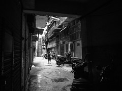 . (Fernando W.) Tags: street bw children fun blackwhite play macau badminton macao