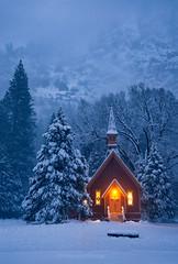 Winter Blue (Piriya Pete Wongkongkathep) Tags: california winter snow chapel yosemite yosemitevalley
