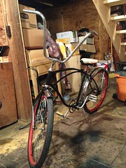 Finished preperation - turned out GREAT (The Mac 3) Tags: bike sand mod paint engine kit 1960s modification install flyinghorse bicylce 2stroke beachcruiser rollfast