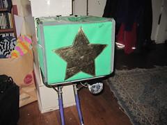Accessorized with the 9x8 green rando bag (Tysasi) Tags: green bag gold star rando rack demountable 10x75 lukeheller 9x8x8