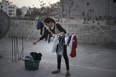 Daily Life for Palestinian girl Amira Ekmeel, 12 years, from Gaza (TeamPalestina) Tags: reflection canon landscape hope landscapes photo am nice nikon photographer natural live palestine innocent blockade gaza freepalestine palestinian occupation