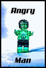 Angry Man! (tim constable) Tags: green muscles monster comic lego muscular famous icon rage syndrome hero angry littleman strong translucent strength minifig marvel issues complex goodvsevil bulging incrediblehulk minifigure angermanagement davidbanner worldsstrongestman timconstable
