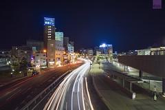 Toyoko INN Okayama Station West Square (happykiddo) Tags: japan night nikon long exposure nightscape voigtlander  okayama d800  20mmf35 happykiddo slii